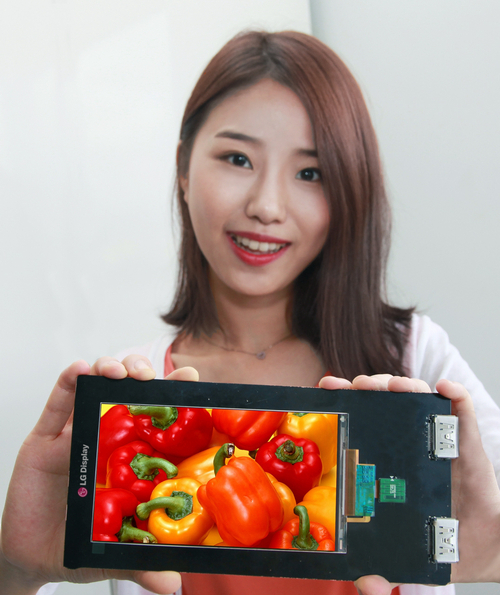 LG Display unveiled its 5.5-inch Quad HD (QHD) LCD panel for mobile phones on August 21.