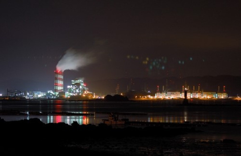 A night view of Boryeong Thermal Power Plant.