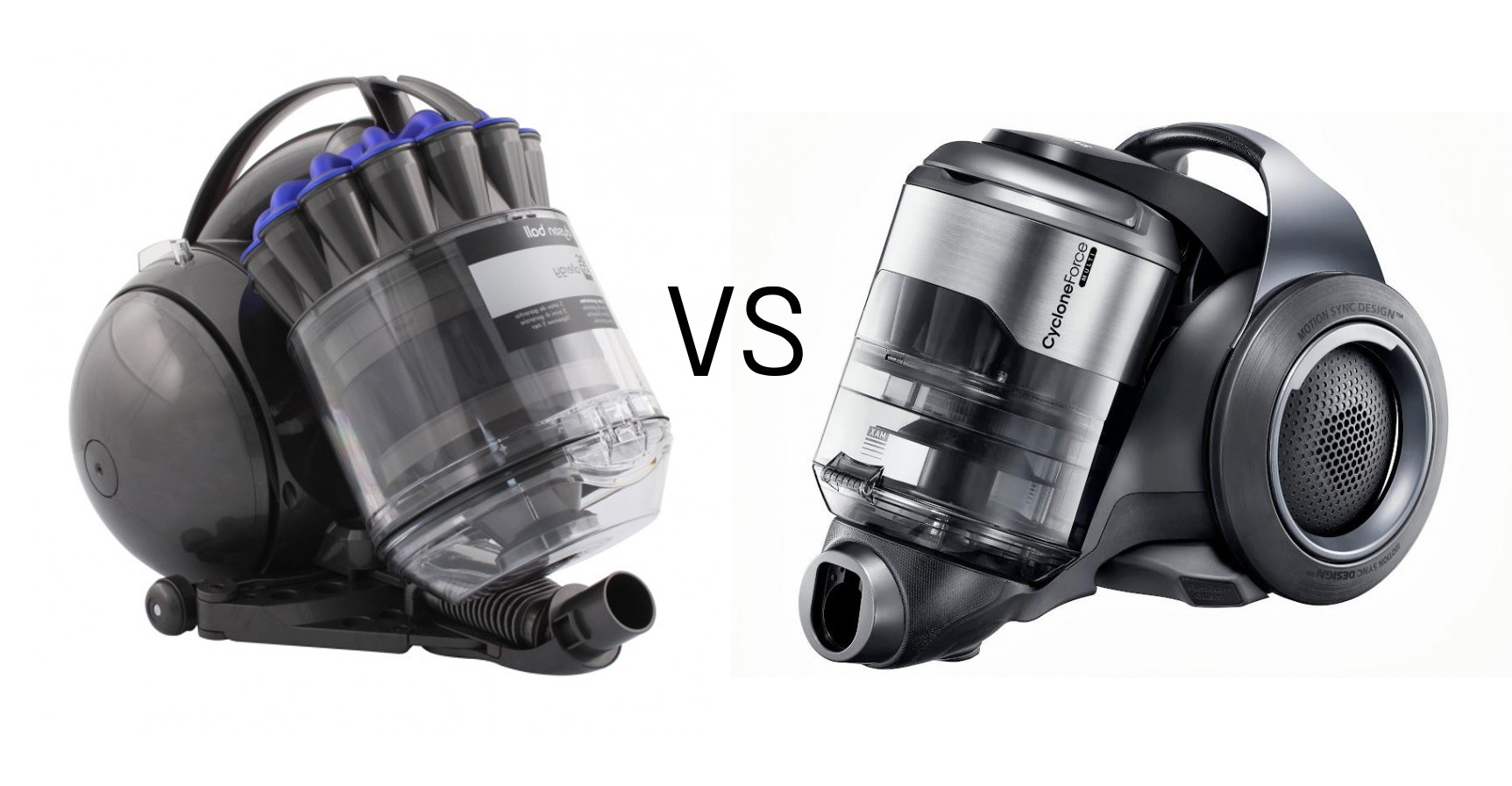 The Dyson DC37 Allergy Musclehead Parquet vs. the Samsung Motion Sync Vacuum Cleaner.