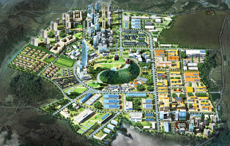 A bird eye's view of the Korea National Food Cluster in Iksan City, North Jeolla Province.