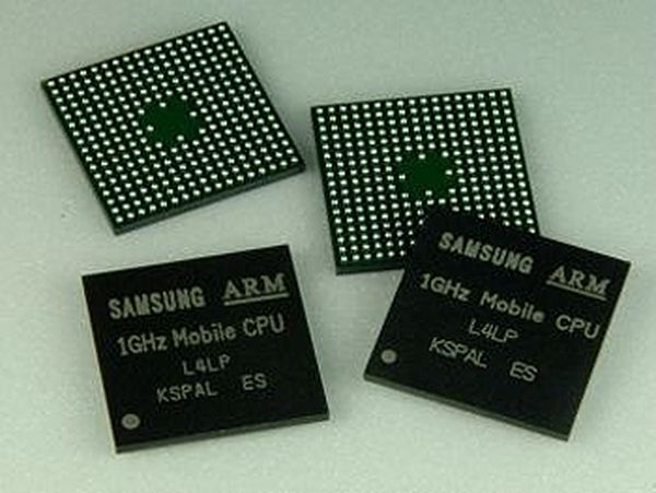 Samsung ARM dual-core 1GHz CPU for mobile devices.