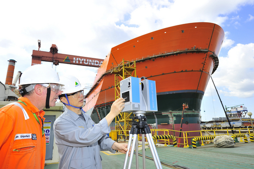 Hyundai Heavy Industries will be the first to apply 3D technologies to building an offshore plant.