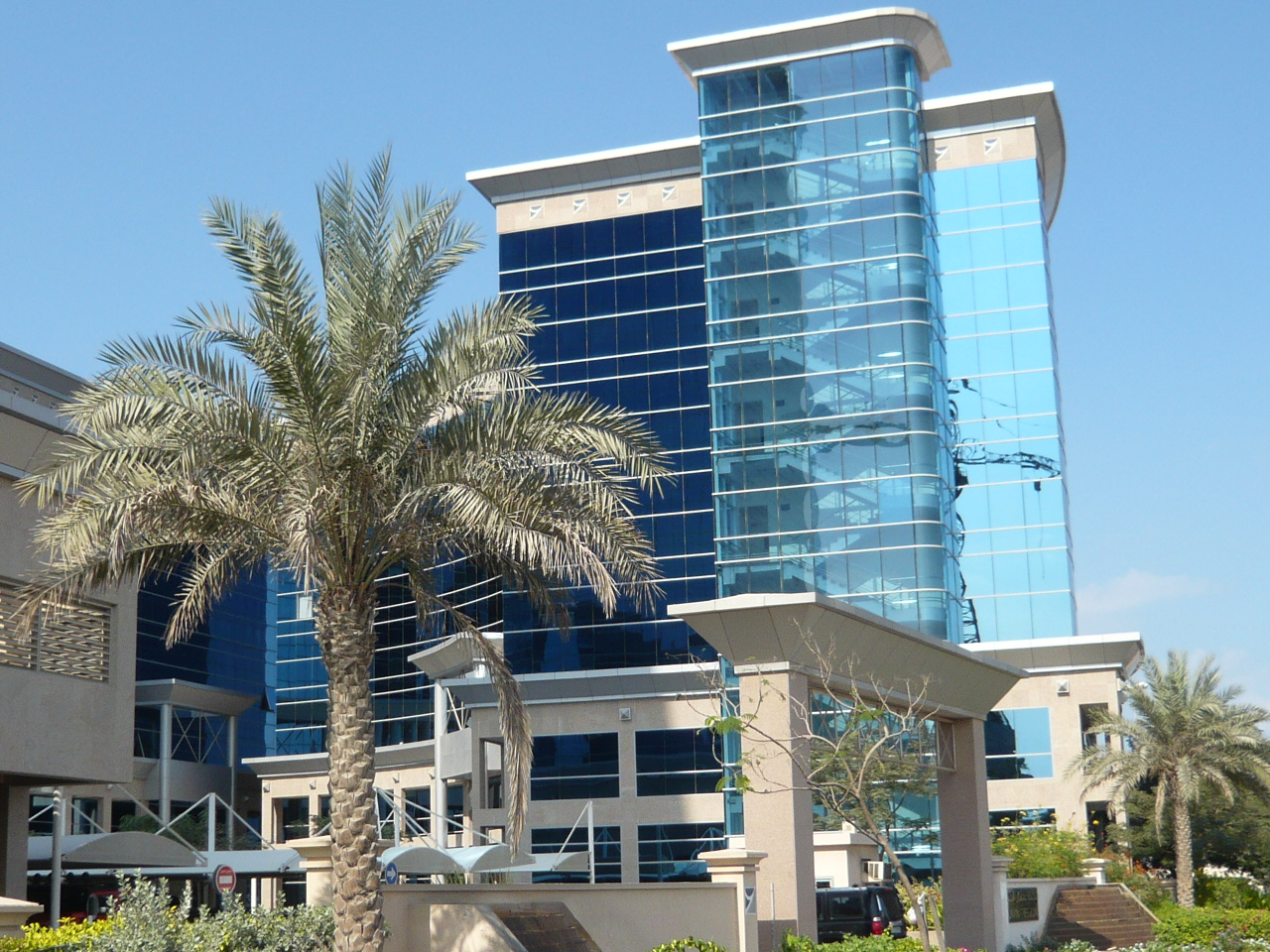 A typical office building in Ajman Free Zone.