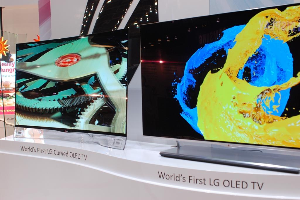 LG's first 55-inch curved OLED TV.