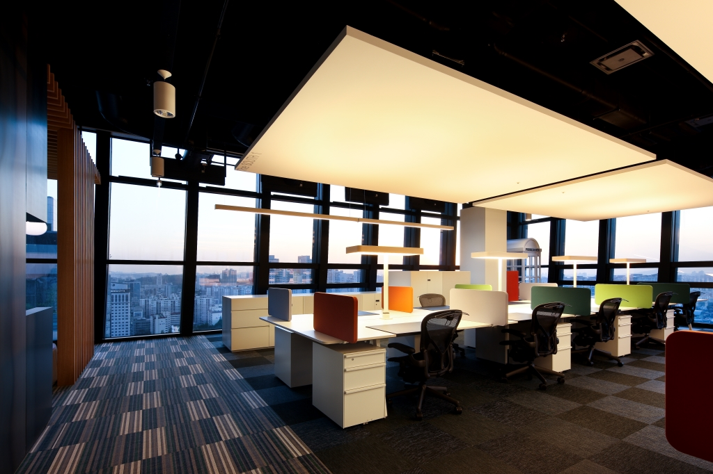 The newly redecorated office of Cheil Communications, the advertising affiliate of Samsung Group.