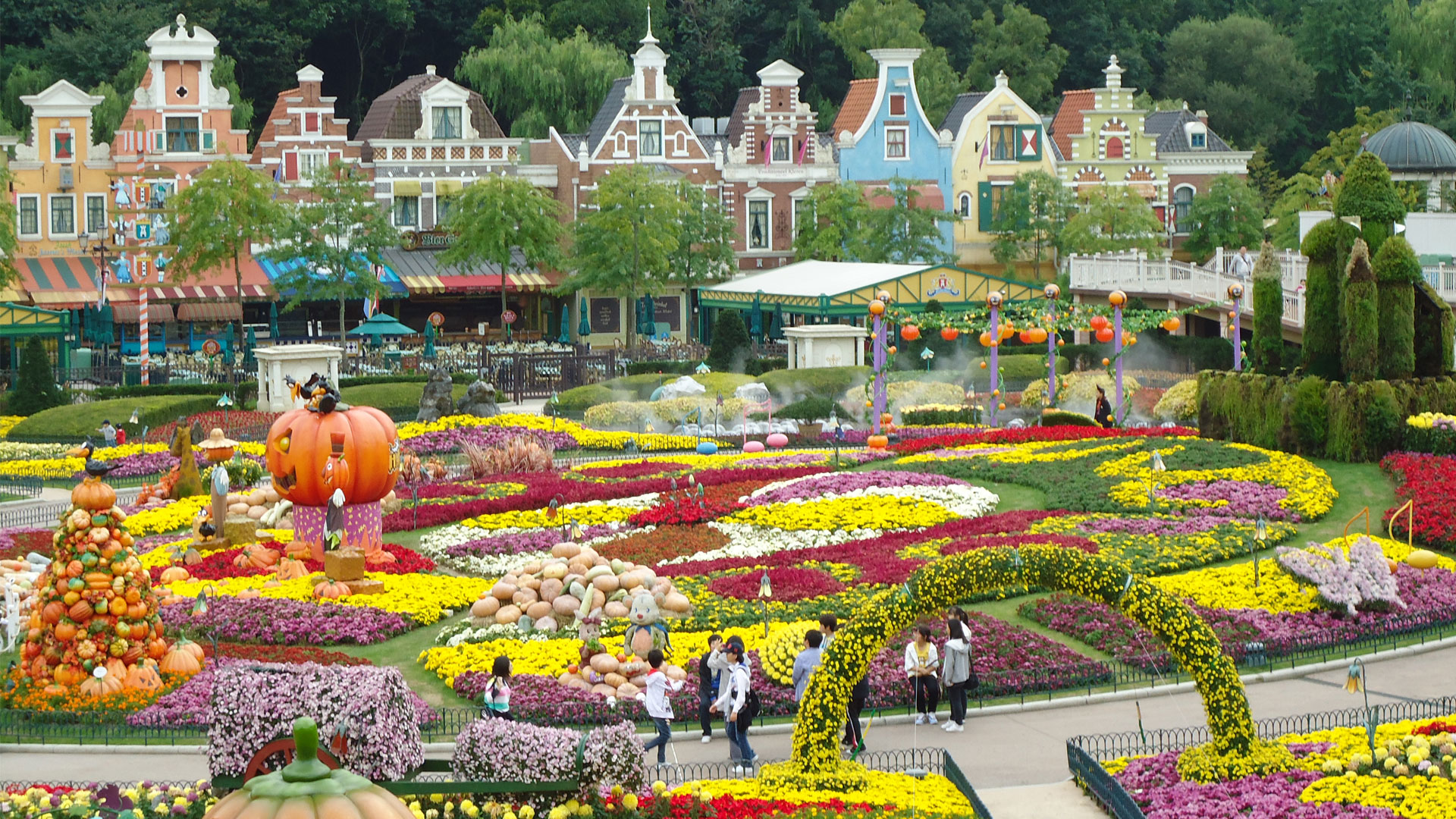 Samsung's Everland theme park is about an hour outside of Seoul.
