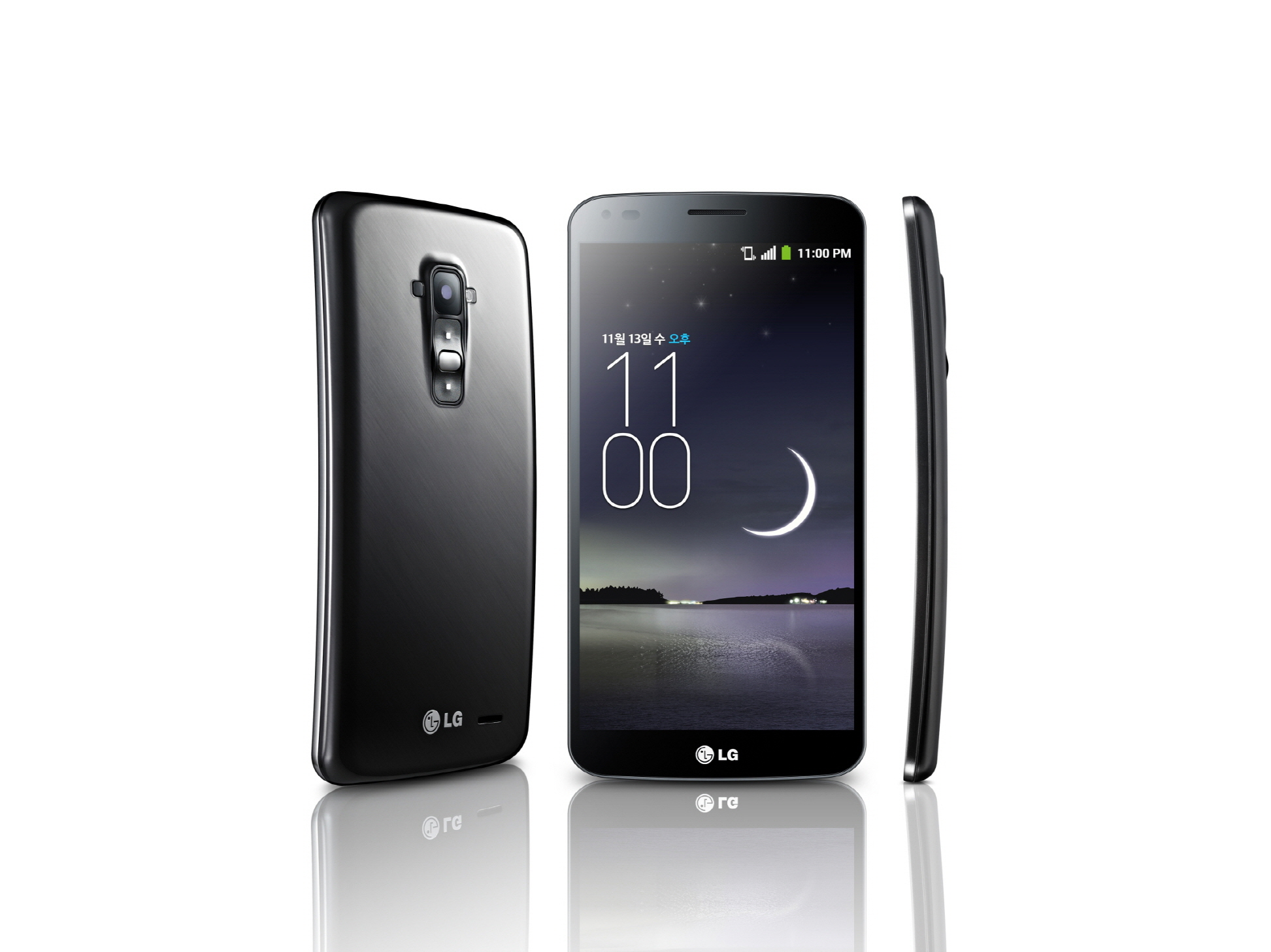 The LG G Flex has the ability to bend out of shape and return.