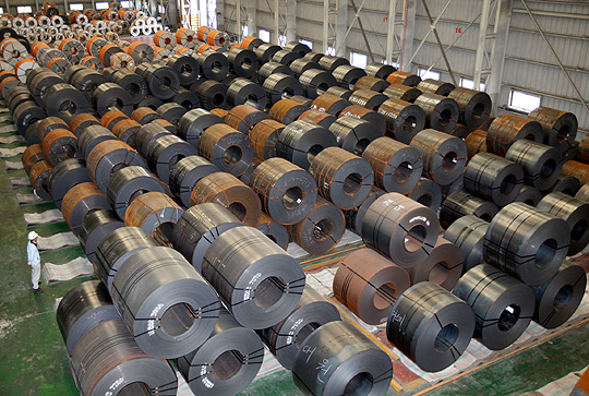 Rolled steel is a heavily-exported commodity in Korea.