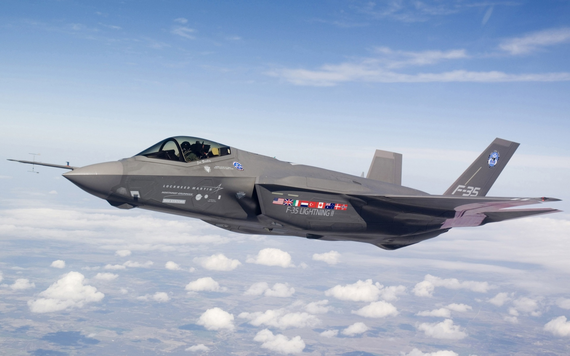The Lockheed Martin F-35 Lightning II.