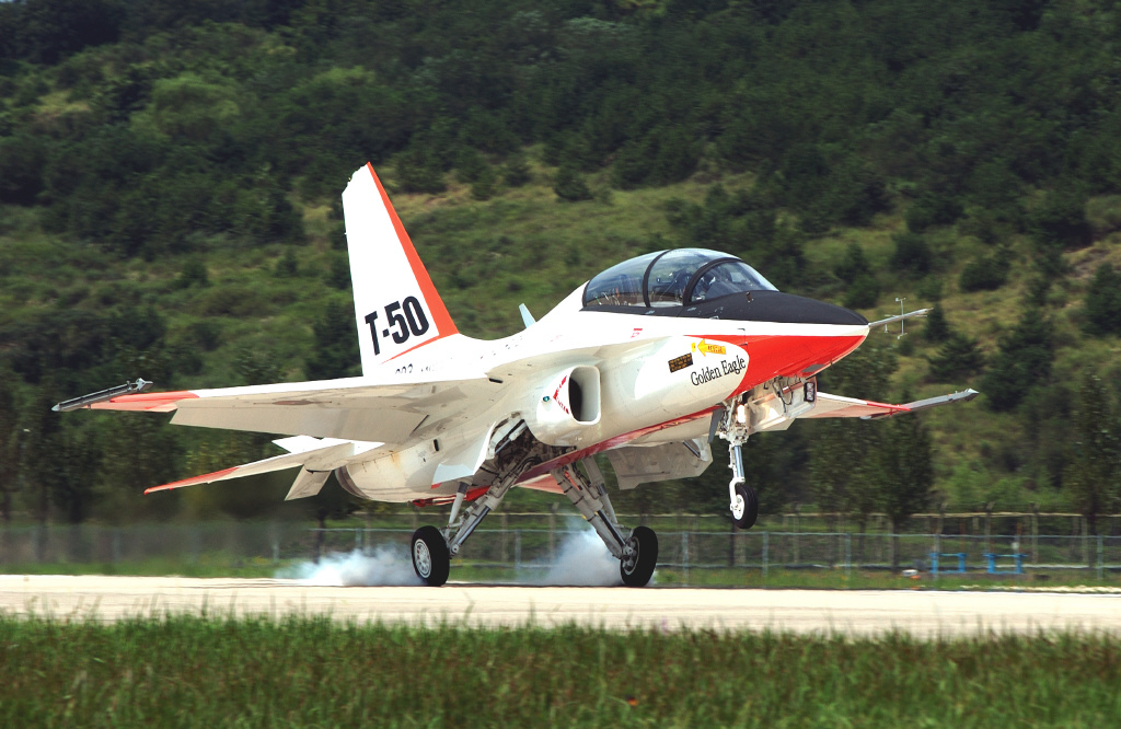 The T-50 was chosen as a trainer aircraft for future F-16 pilots.