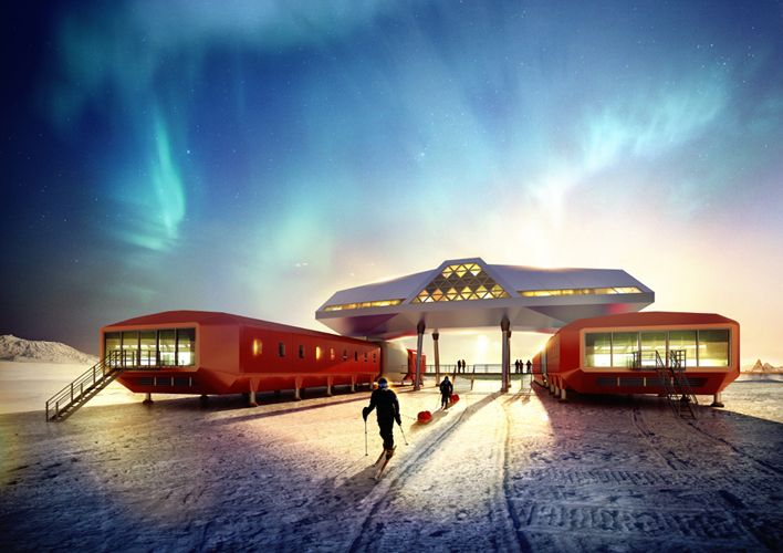 Construction of the 4,500 square meter Jang Bogo Station, Korea's first research base in Antarctica, will be completed on February 14.