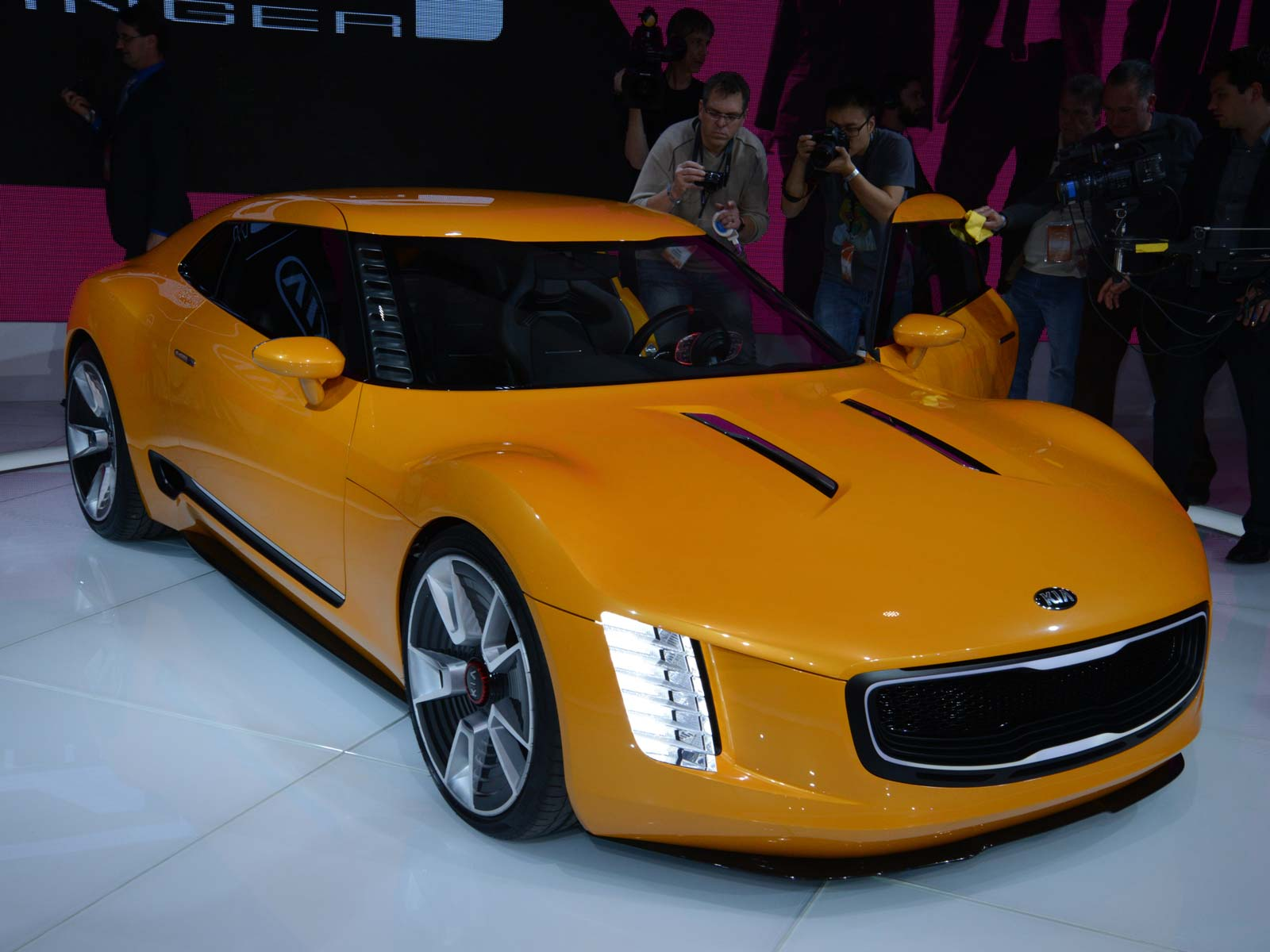 The GT4 concept car unveiled at the North American International Auto Show 2014.