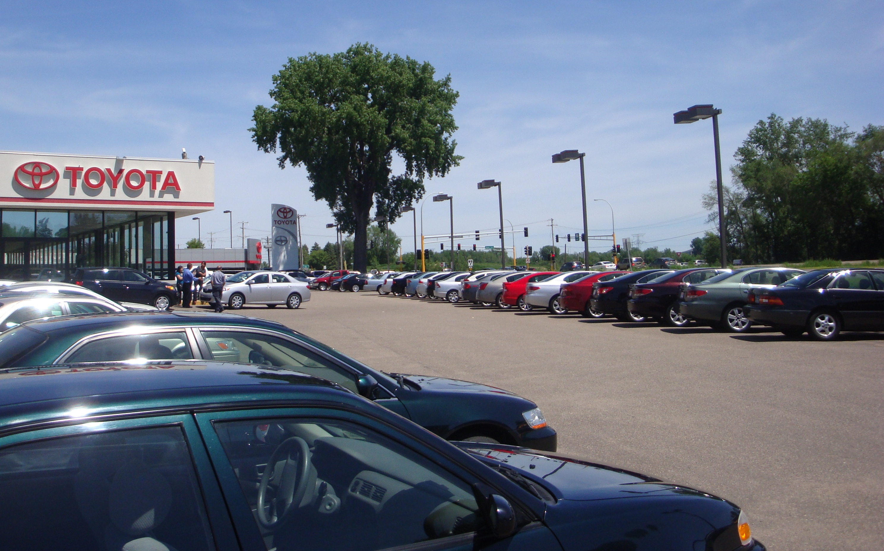 The Maplewood Toyota dealership in St. Paul, Minnesota, in the United States.