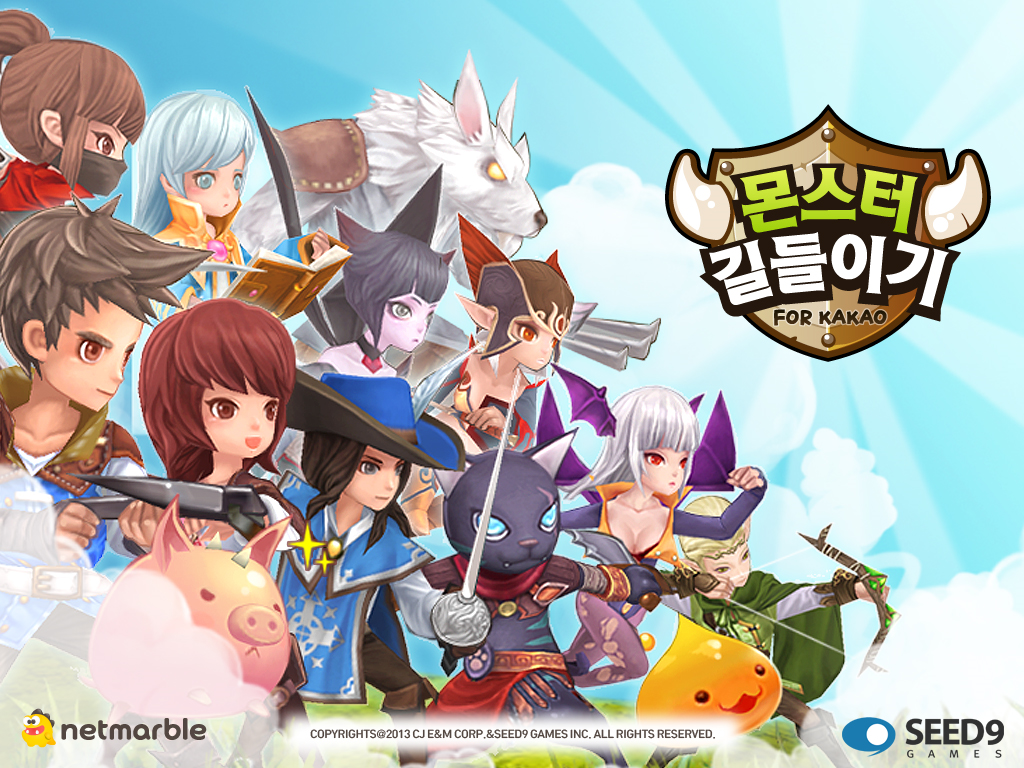 Promotional artwork for Netmarble's Monstergame, a very popular app on Google Play's games section.