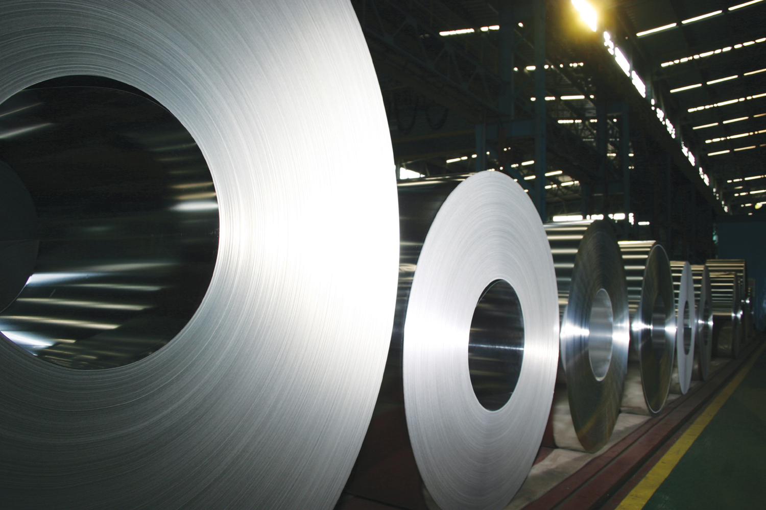 POSCO-produced rolled steel.