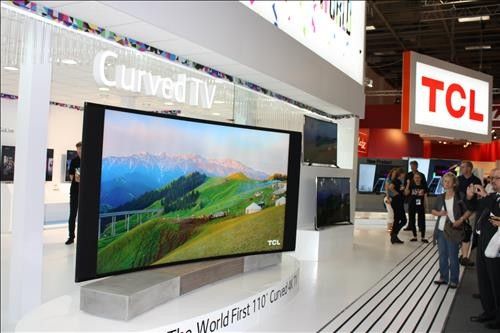 TCL's 110 inch curved UHD TV.