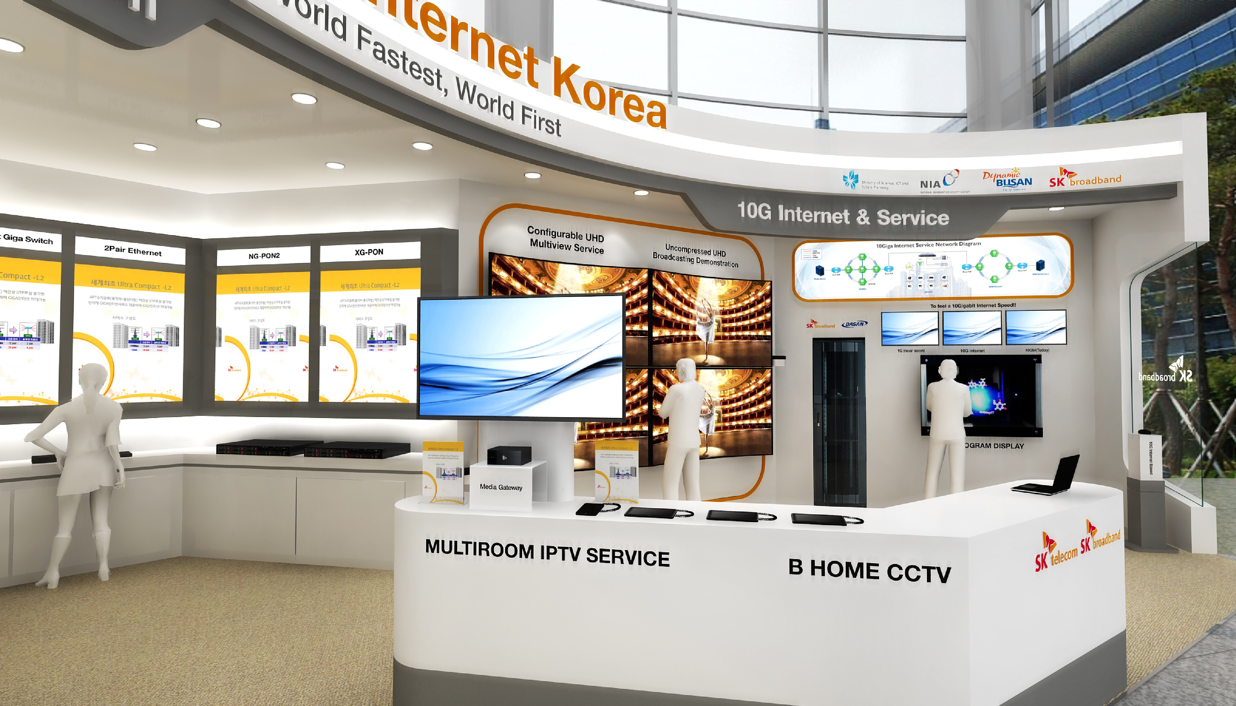 SK Telecom's planned booth at the ITU Plenipotentiary Conference this year.