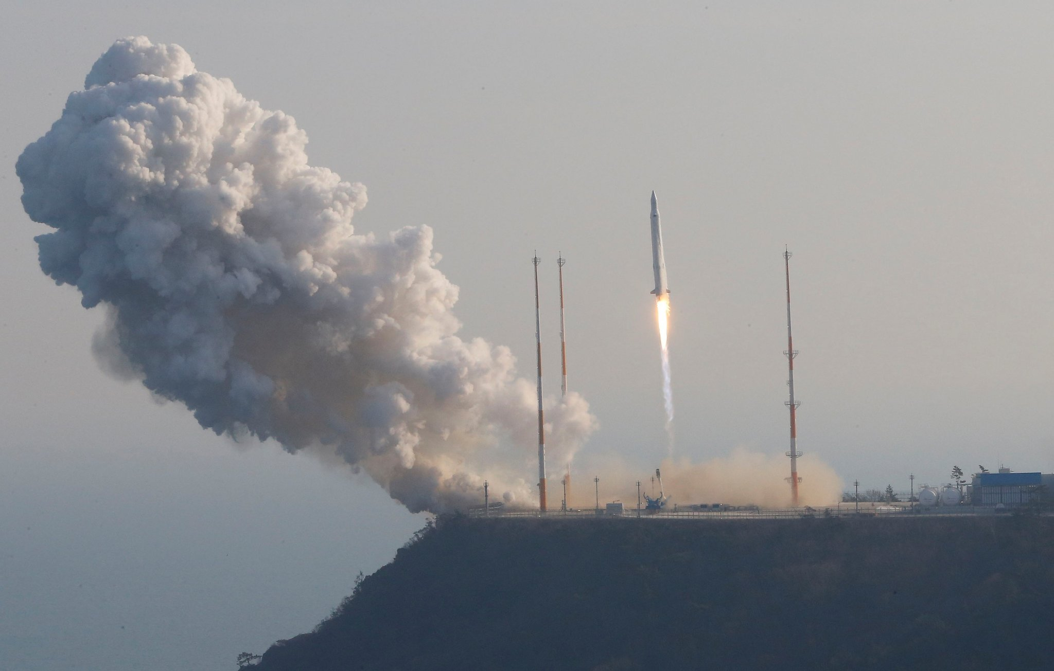 The Korea Space Launch Vehicle-1 successfully takes off from the Naro Space Center in Goheung, South Korea in 2013.