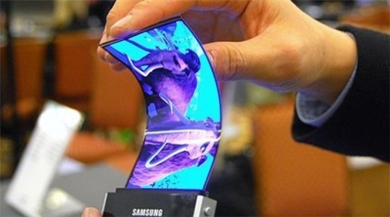 The world's first flexible AMOLED display panel by Samsung Display.