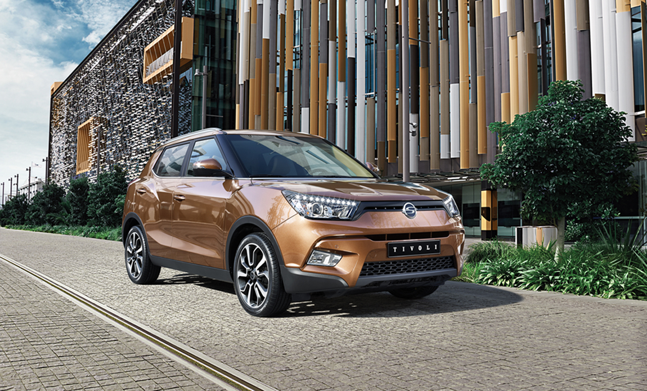 The Ssangyong Tivoli, a new model compact SUV.