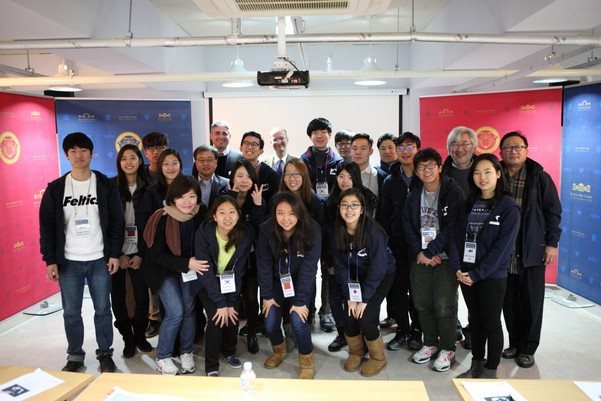 The students and professors of the Asia Institute together.