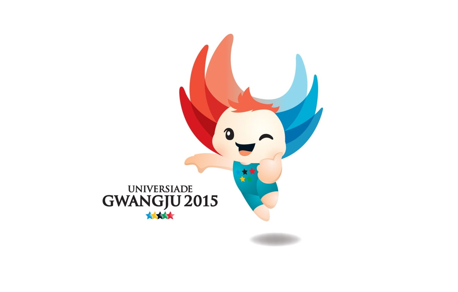 The mascot of the Universiade Gwangju 2015 is a Nuribi figure.