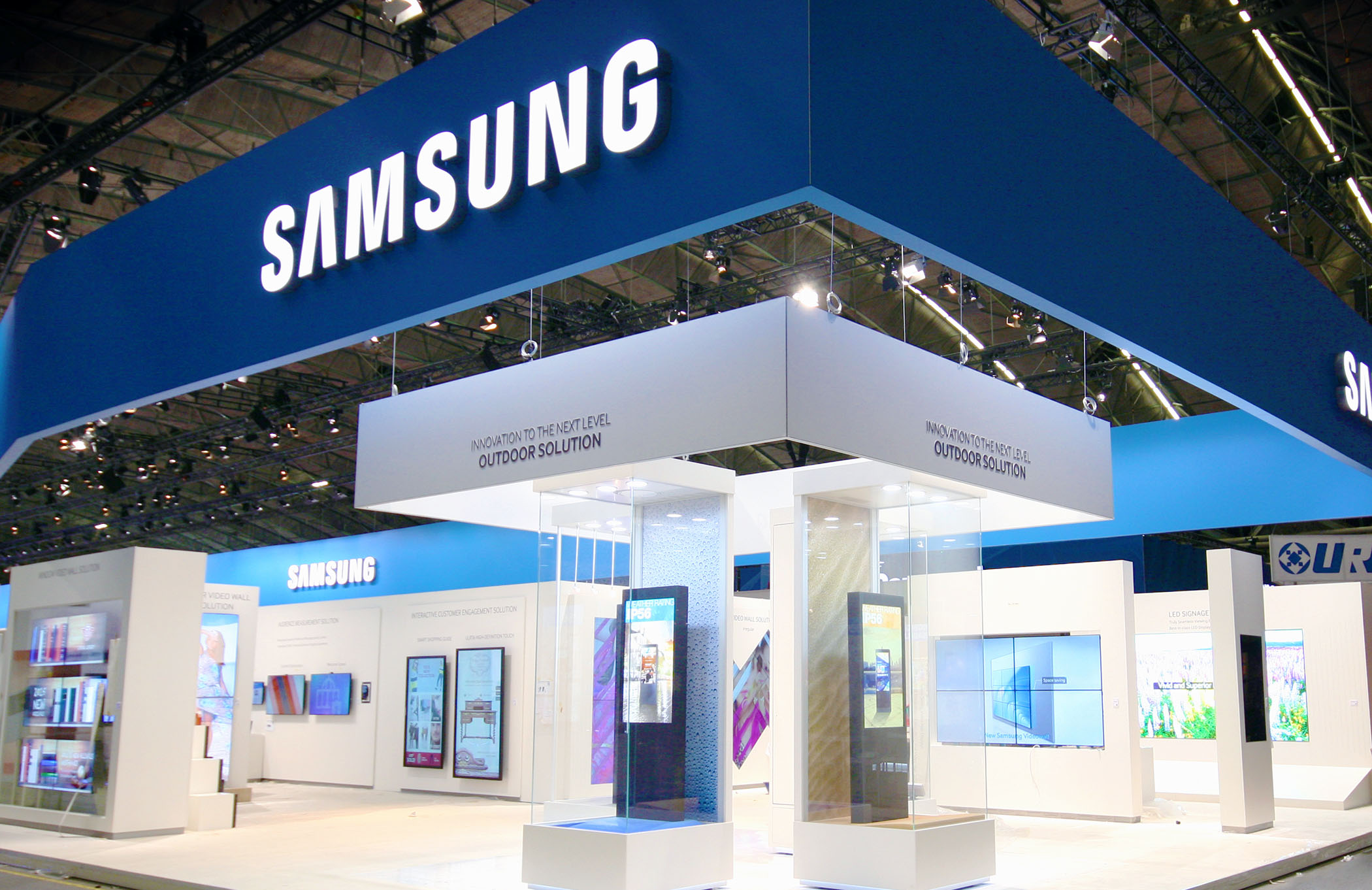 Samsung has the largest booth at ISE 2015.