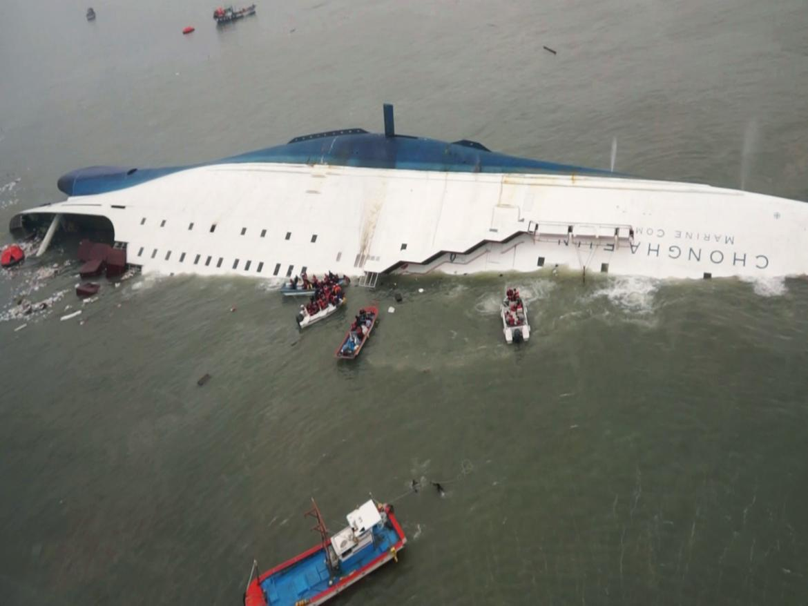The Sewol Ferry capsizing.