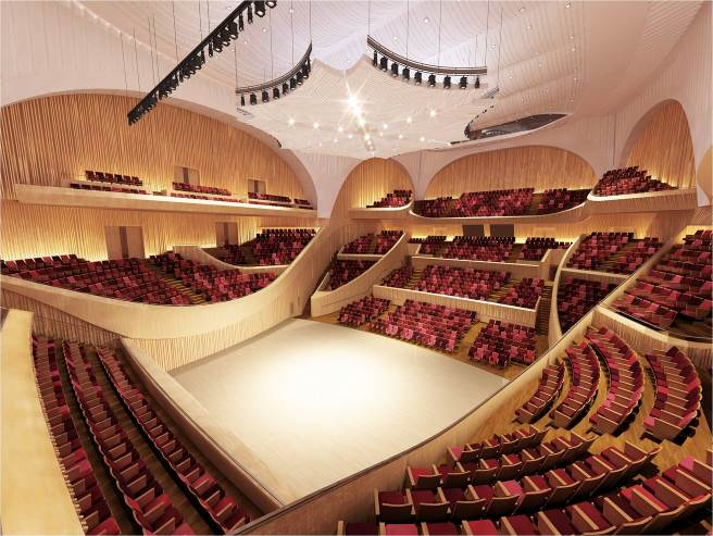 Lotte World Mall's concert hall will be designed in the vineyard style, where the audience sits all around the stage. (Photo via Lotte World Mall)