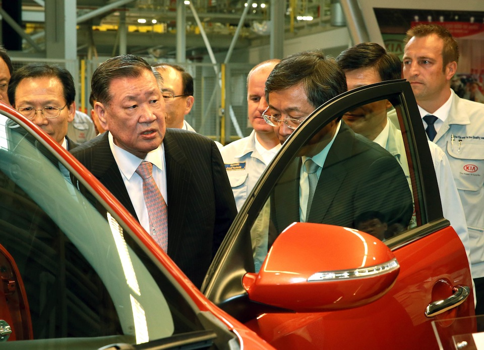 Chung Mong-koo, chairman of the Hyundai Motor Group.