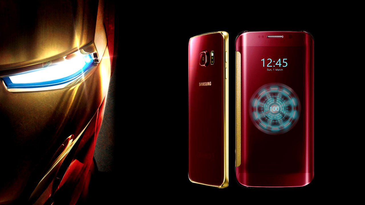 The Galaxy S6 edge Iron Man Limited Edition.
