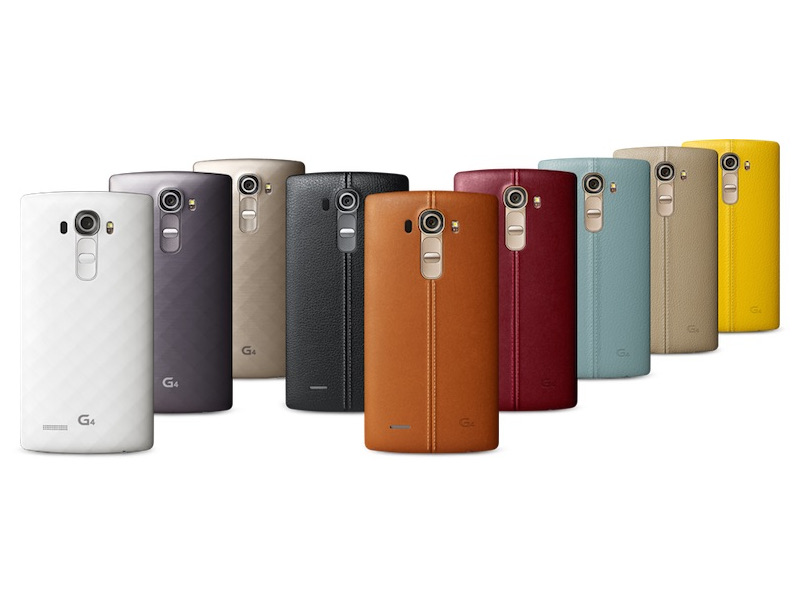The LG G4's leather back comes in a variety of colors.