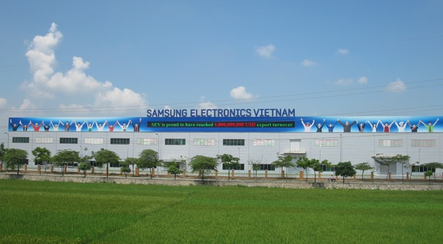 A Samsung production plant in Vietnam.