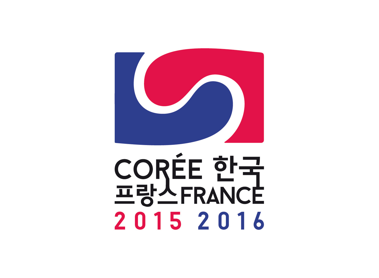 """Years 2015-2016 of Korea-France Bilateral Exchanges"" event logo."
