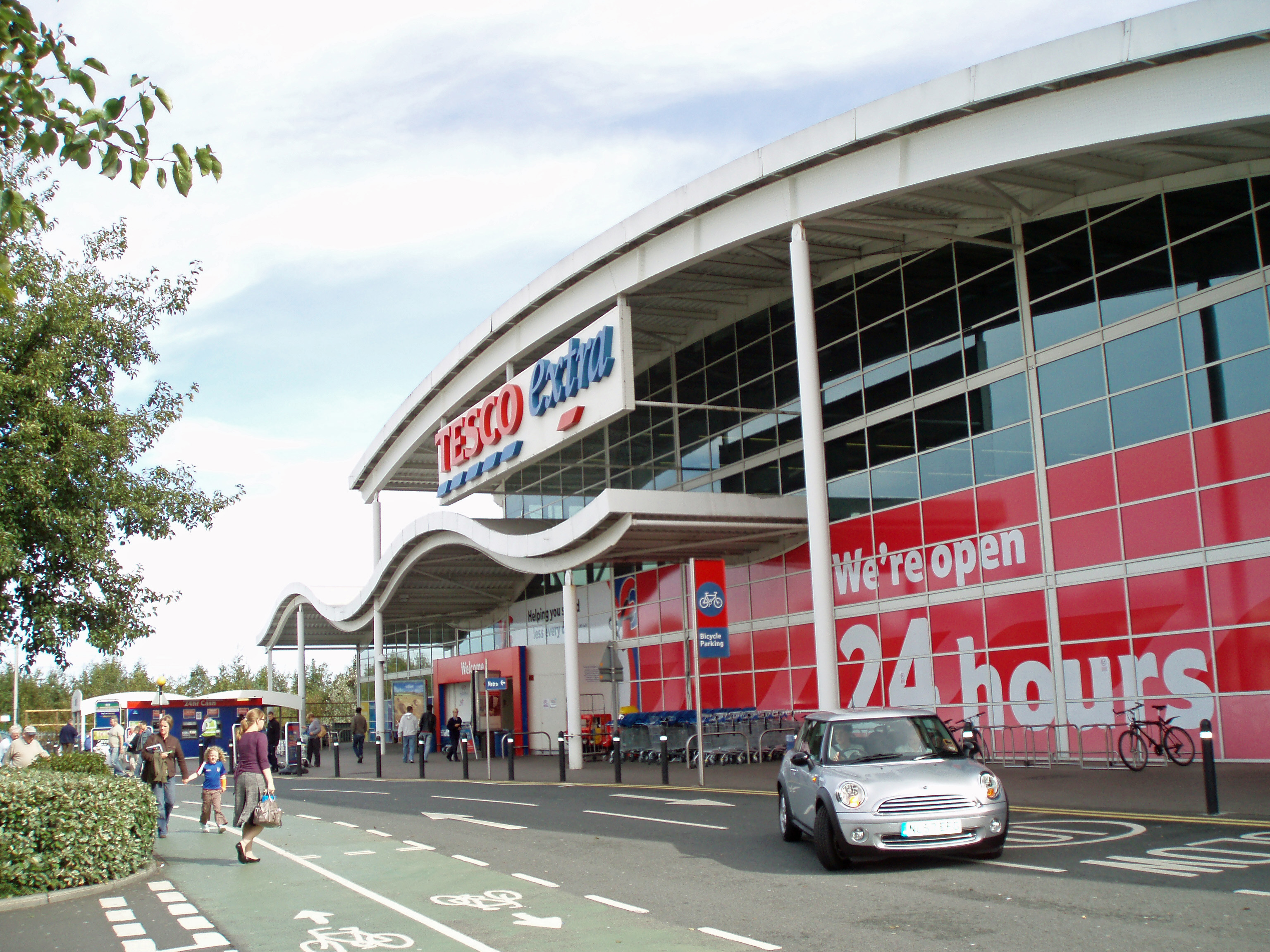 A Tesco store at Kingston Park, Newcastle upon Tyne, England.