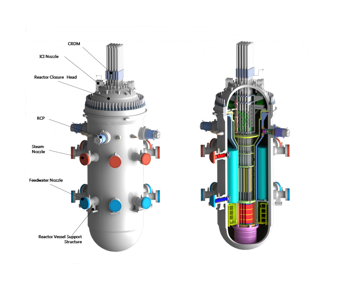A diagram of a System Integrated Modular Advanced Reactor.