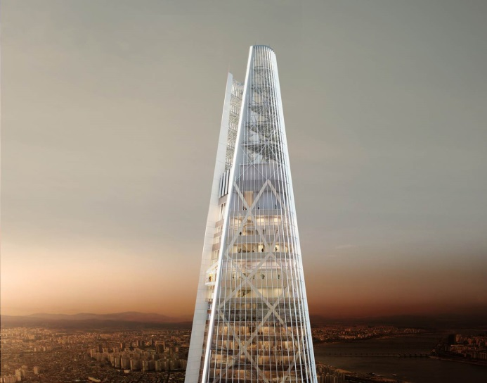 Lotte E&C to Mount 'Diagrid' Structure on Top of Skyscraper