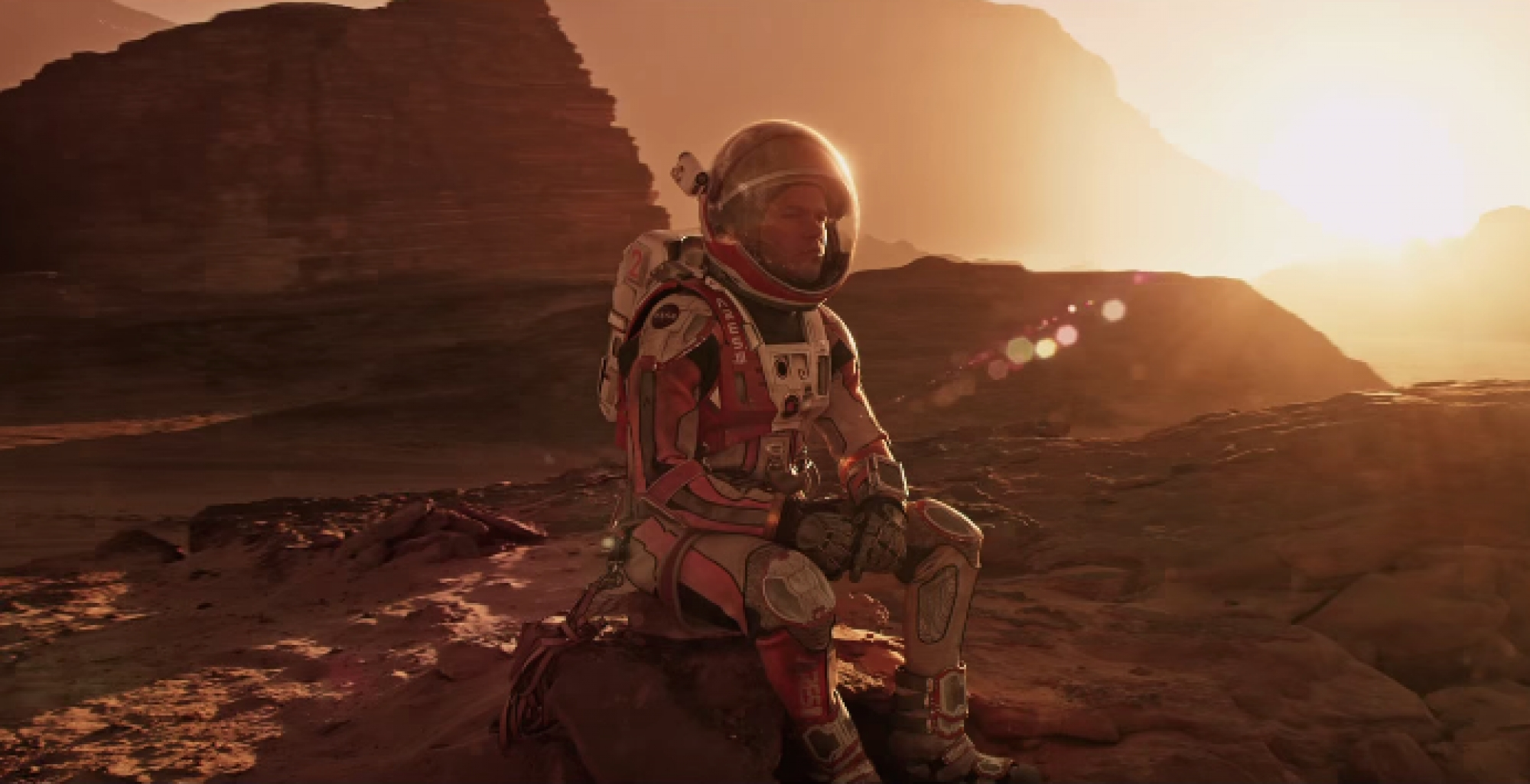 "A promotional shot from the new movie ""The Martian."""
