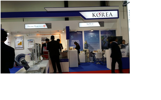 A Korean booth at The Big5 Show.
