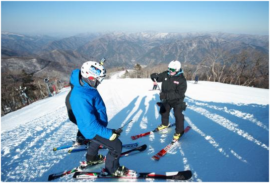 Jeongseon Alpine racing course.