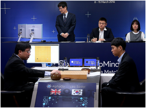 Lee Se-dol (right in the picture) and AlphaGo had their first Go match on March 9 at the Four Seasons Hotel in Seoul.