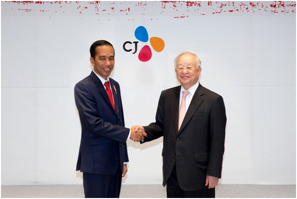 CJ Group Chairman Sohn Meets Indonesian President Joko Widodo