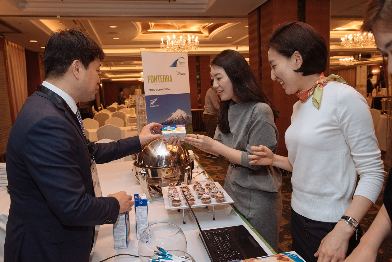 Attendees to New Zealand Food Week sample the fruits of free trade on May 24, 2016.