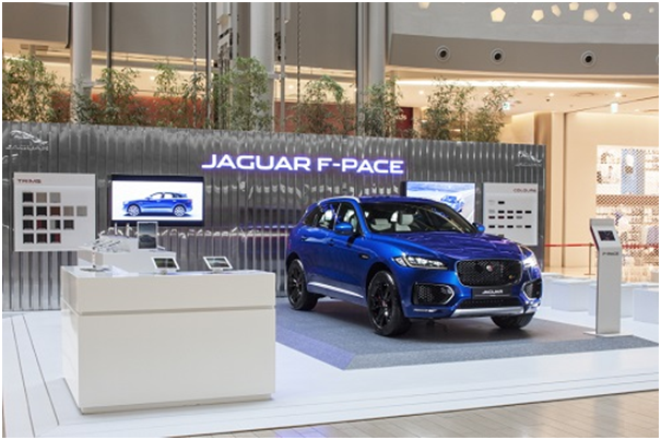 "Jaguar Land Rover Korea will operate ""F-Pace Café"" until July 16."