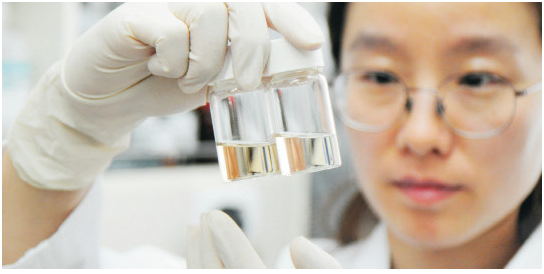 A researcher at the Korea Basic Science Institute is showing a high-sensitive upconversion nano material that is capable of tracking nanoparticles for an extended period of time in a living body.