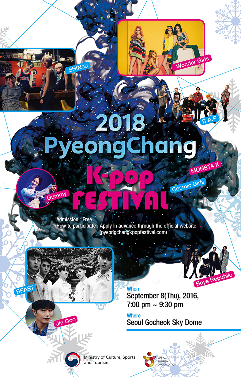 The poster of the K-pop festival.