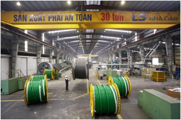 The plant of LS-VINA Cable & System which LS Cable & System established in Northern Hai Phong city, Vietnam in 1996.
