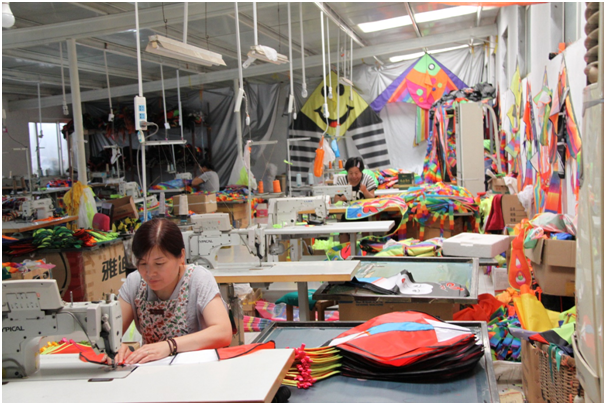 Weifang, the home to Chinese kites, produces 80 million kites annually.