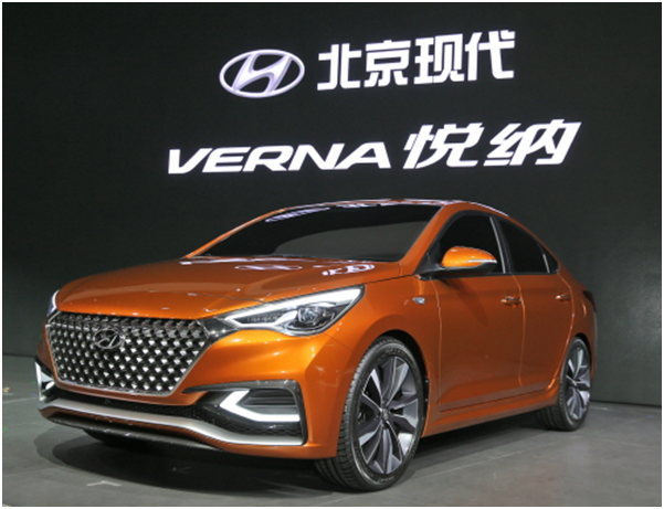 Four models including Beijing Hyundai's Verna (Korean model name: Accent) ranked first at the general satisfaction standings in the passenger car category.