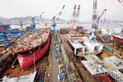 "The Korean government concluded that it will maintain the ""Big Three"" structure in the Korean shipbuilding industry."